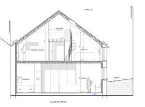 plan coupe loft