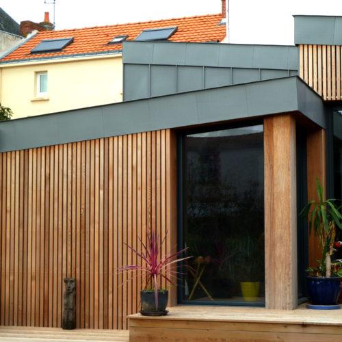 pignon bois facade maison