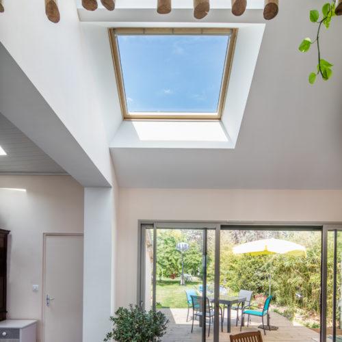 salon velux maison renovation extension