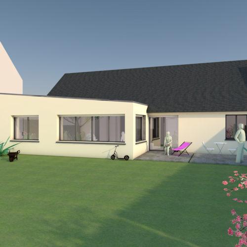 scenario restructuration renovation de maison