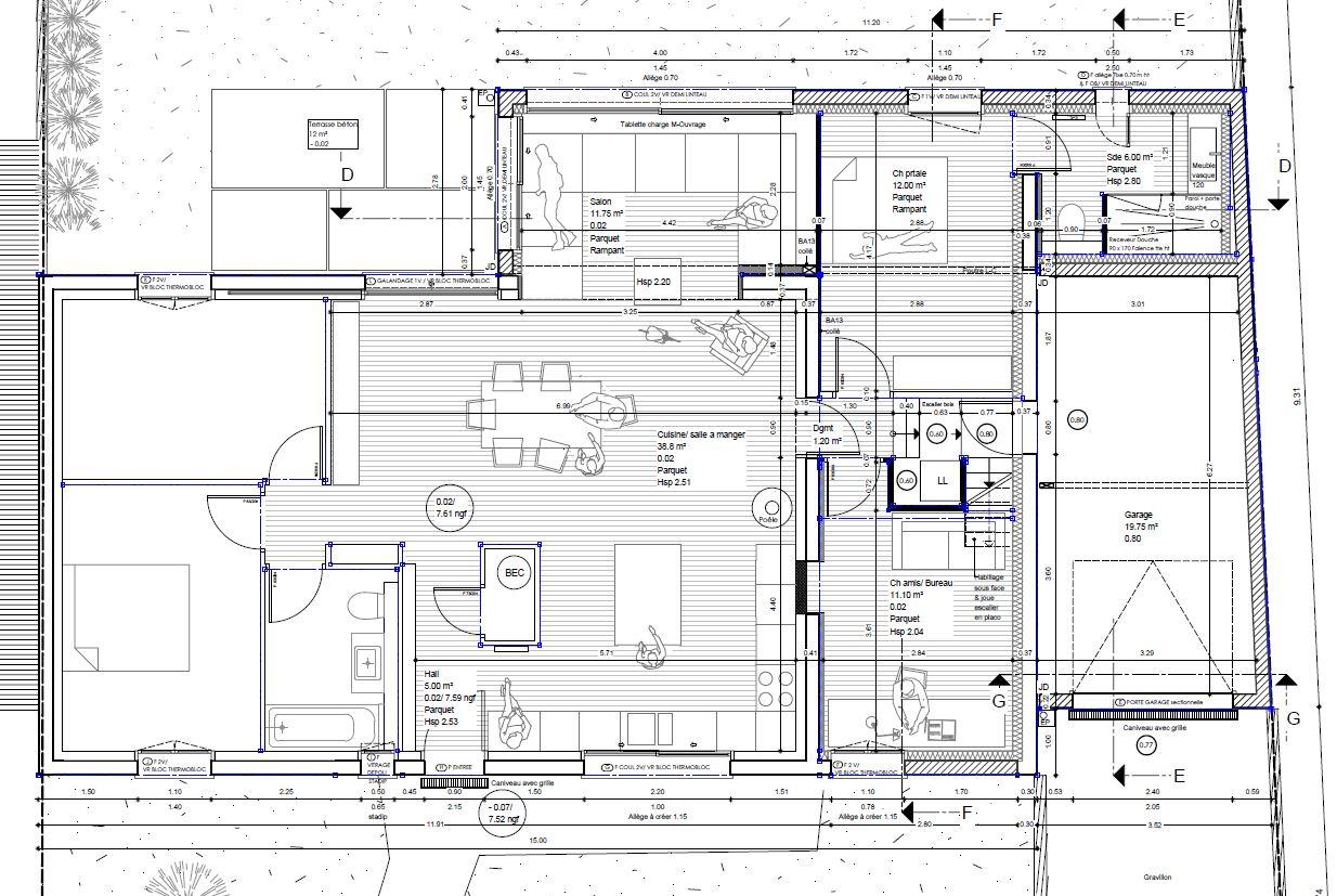plan architecte projet de restructuration professionnel