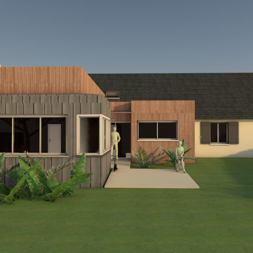 extension maison ossature bois