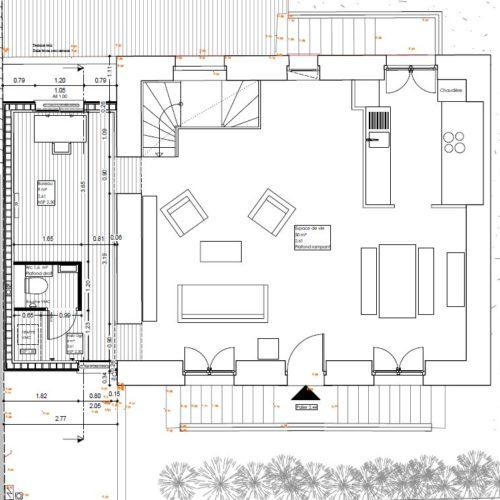 plan architecte maison