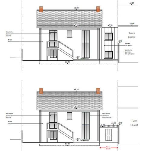 maison plan coupe