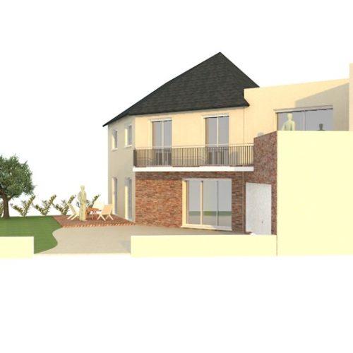 piece graphique maison individuelle en extension