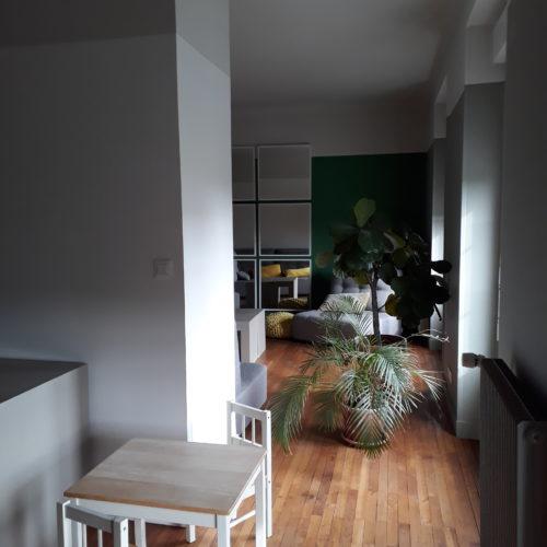 couloir maison sol parquet architecture nantes le lann