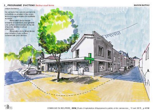 pharmacie le boupere construction le lann architecture urbanisme