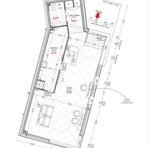 plan architecte salon de coiffure renovation