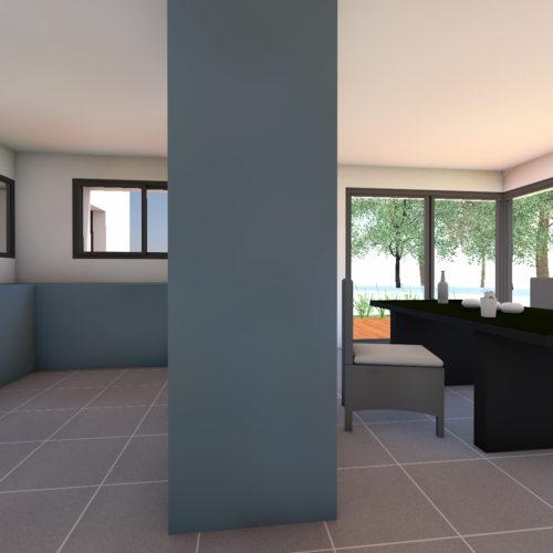 vue intérieure maison neuve
