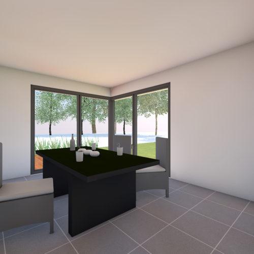 vue intérieure maison neuve piece de vie