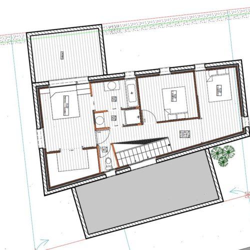 plan architecte maison neuve etage
