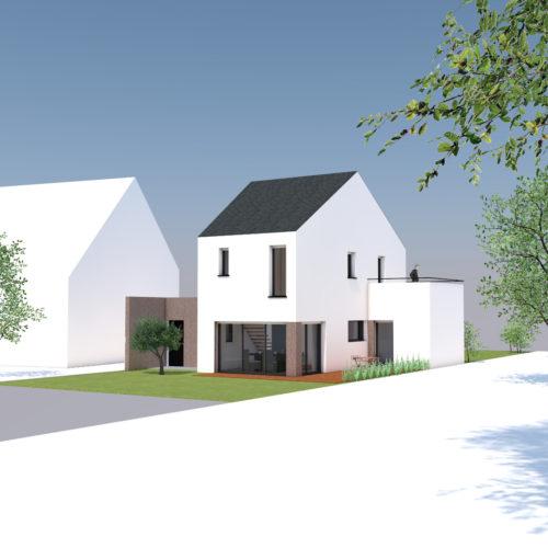 vue graphique maison neuve construction