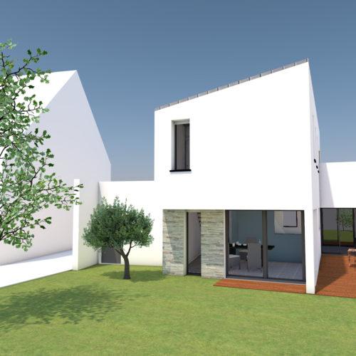 vue graphique maison neuve moderne