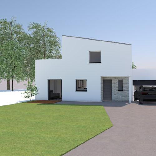 maison neuve blanche