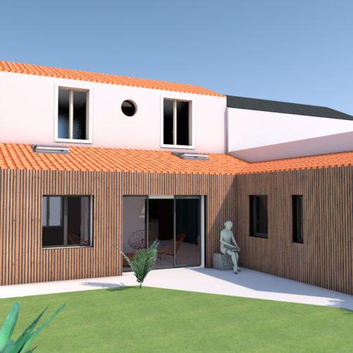 extérieur extension en ossature bois