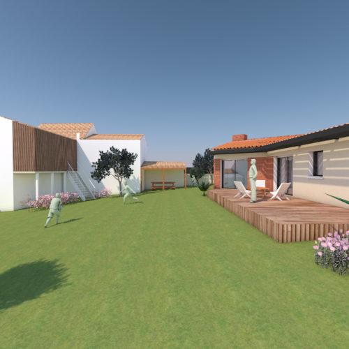 vue d'ensemble maison en construction renovation nantes
