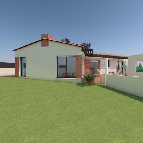 vue pignon maison renovation nantes