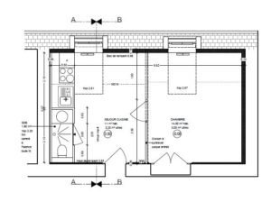 plan appartement T1